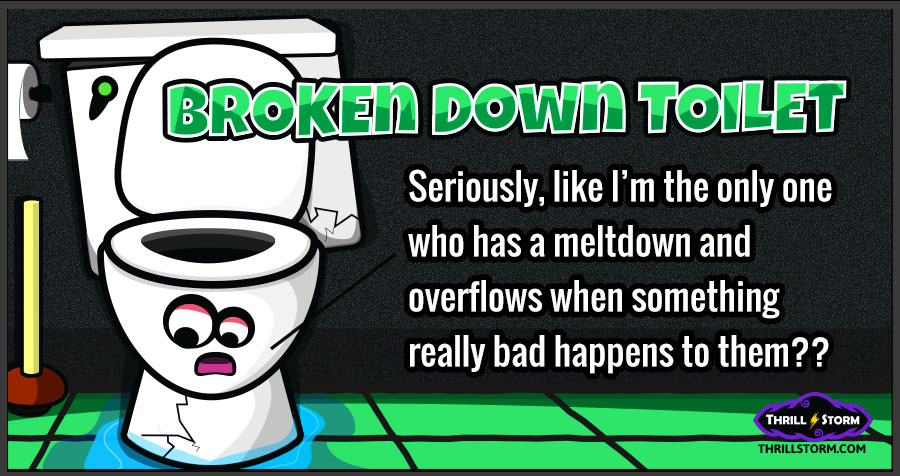 Bathroom Jokes broke down toilet - funny humor bathroom jokes